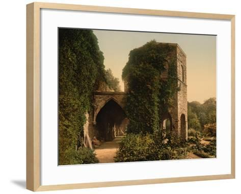 St. Bavon Abbey, the Old Tower, Ghent, Belgium, C.1890-1900--Framed Art Print