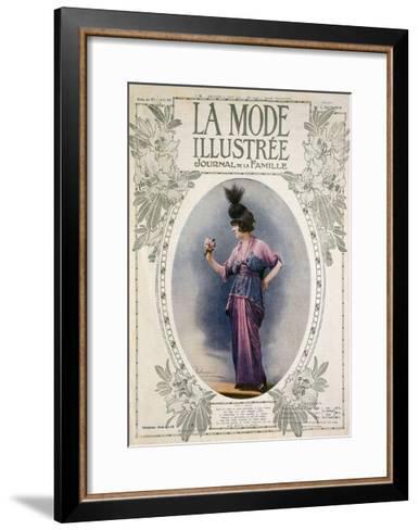 La Mode Illustree Cover, August 1934, Italian Fashion Magazine--Framed Art Print