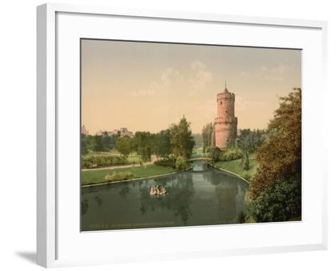 The Kronenbourg Park, Nymegen, Holland, C.1890-C.1900--Framed Art Print