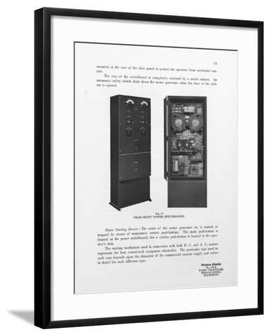 Western Electric Company's Dead Front Power Switchboards--Framed Art Print