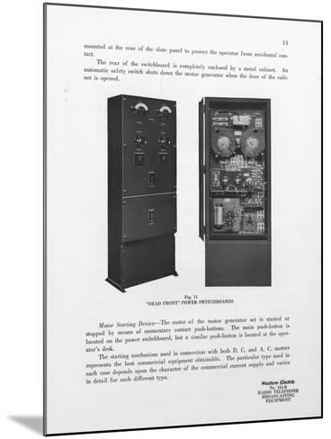 Western Electric Company's Dead Front Power Switchboards--Mounted Giclee Print