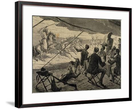 Colonialism. Arab World. Europeans During the Lunch--Framed Art Print