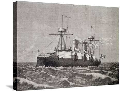Torpedo Boat Vesuvius, 1886, Italy, 19th Century--Stretched Canvas Print