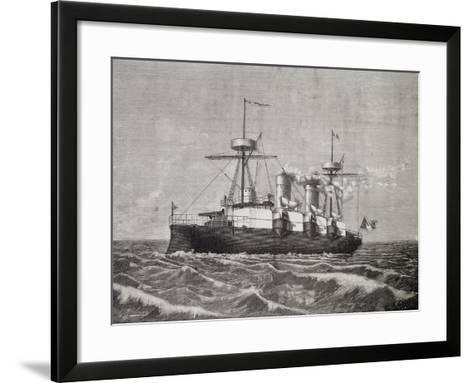 Torpedo Boat Vesuvius, 1886, Italy, 19th Century--Framed Art Print