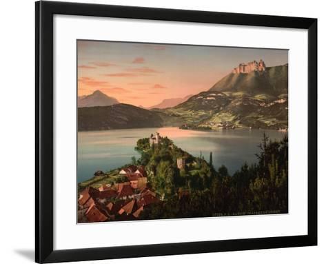 Chateau De Duingt, Annecy in France, C.1890-C.1900--Framed Art Print