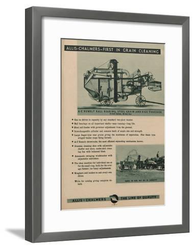 Allis Chalmers Rumely Ball Bearing, Steel Grain and Rice Thresher--Framed Art Print