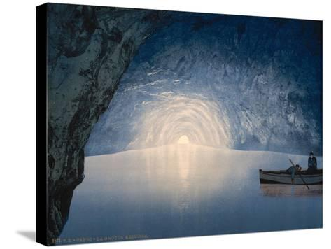 Blue Grotto, Capri Island, Italy, C.1890-C.1900--Stretched Canvas Print