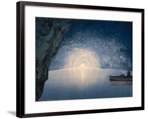 Blue Grotto, Capri Island, Italy, C.1890-C.1900--Framed Art Print