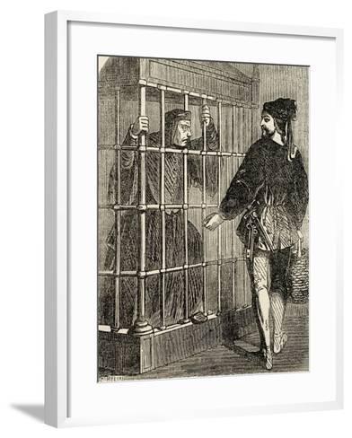 Jean Balue (1421-1491) Prisoner in the Castle of Loches--Framed Art Print
