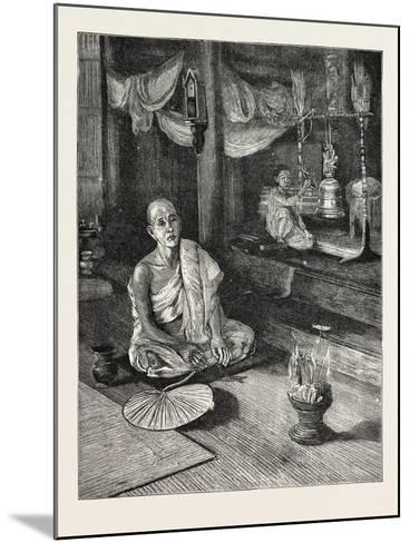 A Call to Worship (Interior of Buddhist Monastery)--Mounted Giclee Print