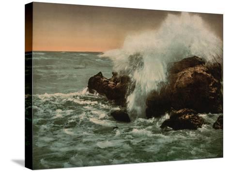 Surf View, Ventimiglia, Riviera, C.1890-1900--Stretched Canvas Print