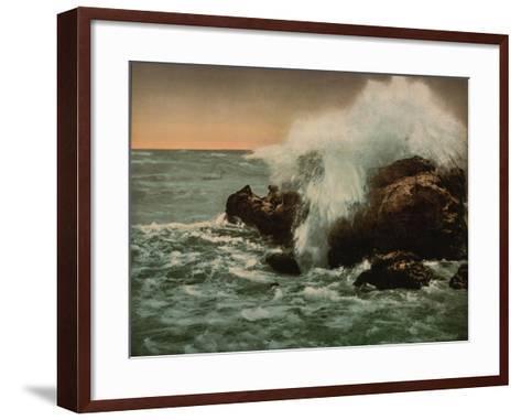 Surf View, Ventimiglia, Riviera, C.1890-1900--Framed Art Print