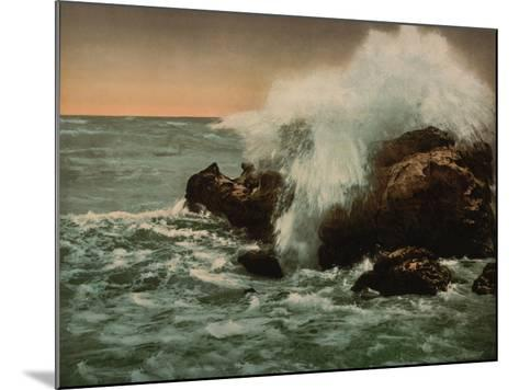 Surf View, Ventimiglia, Riviera, C.1890-1900--Mounted Giclee Print