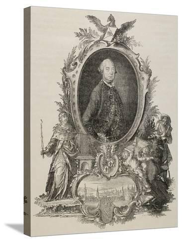 Heinrich Christopher Liber (1707-1788). German Politician.--Stretched Canvas Print