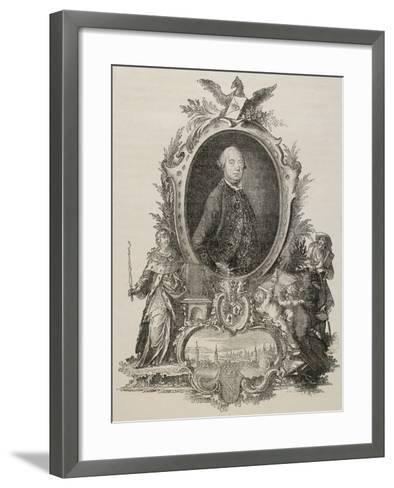 Heinrich Christopher Liber (1707-1788). German Politician.--Framed Art Print