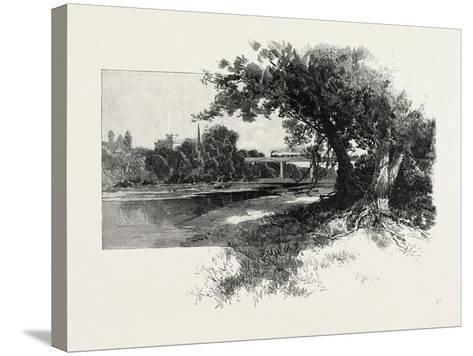 Railroad Bridge, Paris, Canada, Canada, Nineteenth Century--Stretched Canvas Print