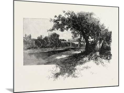 Railroad Bridge, Paris, Canada, Canada, Nineteenth Century--Mounted Giclee Print