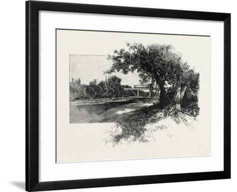 Railroad Bridge, Paris, Canada, Canada, Nineteenth Century--Framed Art Print