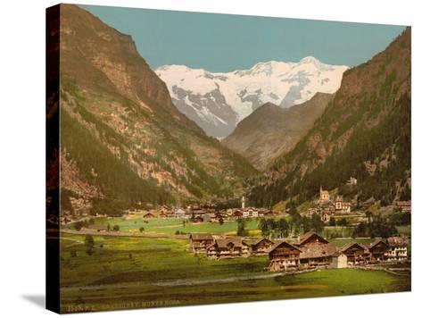 Mt. Rosa, Gressony (I.E., Gressoney), Italy, C.1890-C.1900--Stretched Canvas Print