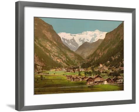 Mt. Rosa, Gressony (I.E., Gressoney), Italy, C.1890-C.1900--Framed Art Print