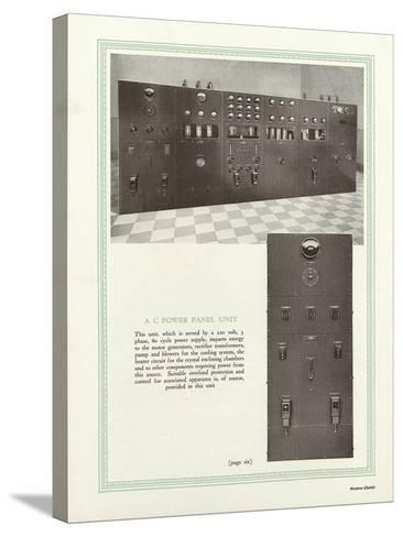 Western Electric Company's a C Power Panel Unit--Stretched Canvas Print
