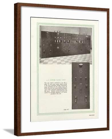Western Electric Company's a C Power Panel Unit--Framed Art Print