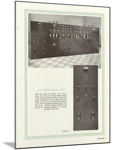 Western Electric Company's a C Power Panel Unit--Mounted Giclee Print