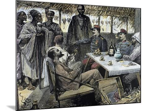 Head of an African Tribe Interviewing with the French--Mounted Giclee Print