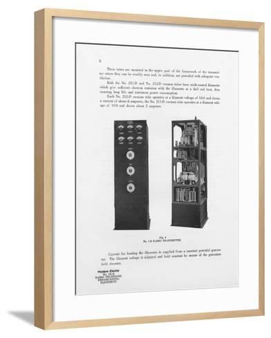 Western Electric Company's Number 1-B Radio Transmitter--Framed Art Print