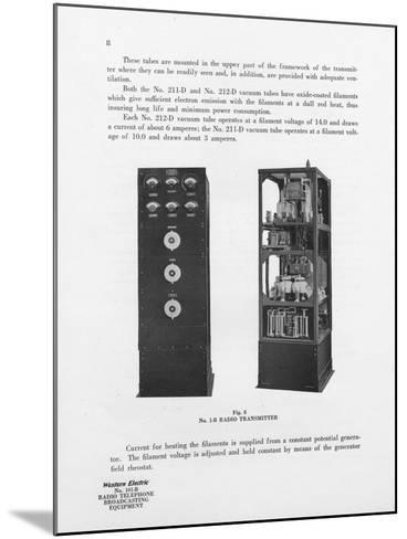 Western Electric Company's Number 1-B Radio Transmitter--Mounted Giclee Print