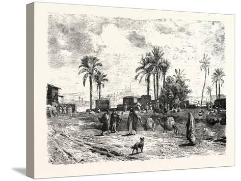 Cairo; from the Left Bank of the Nile, Egypt, 1879--Stretched Canvas Print