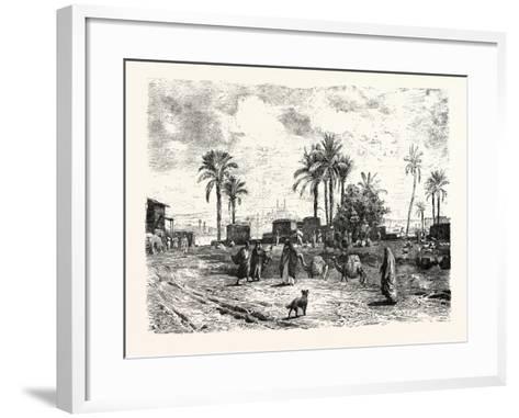 Cairo; from the Left Bank of the Nile, Egypt, 1879--Framed Art Print