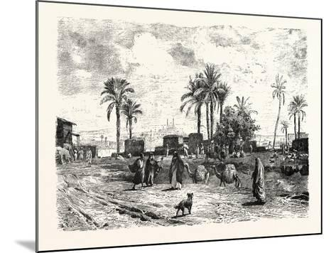 Cairo; from the Left Bank of the Nile, Egypt, 1879--Mounted Giclee Print