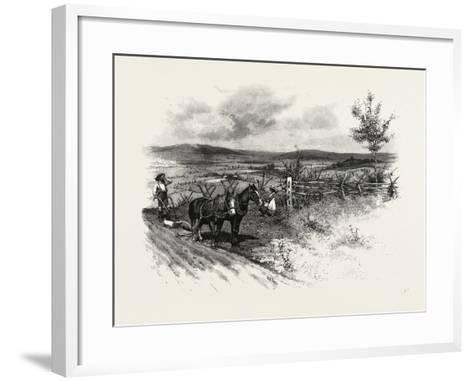 From Toronto, Westward, Canada, Nineteenth Century--Framed Art Print