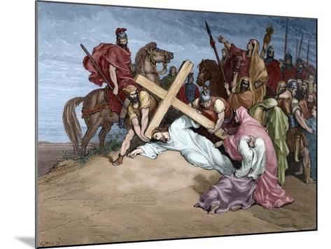 Jesus Reaches the Top of Calvary, 19th Century--Mounted Giclee Print
