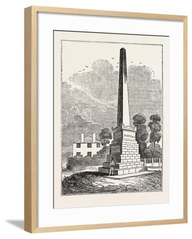 Monument to Wolfe and Montcalm, Quebec, Canada--Framed Art Print
