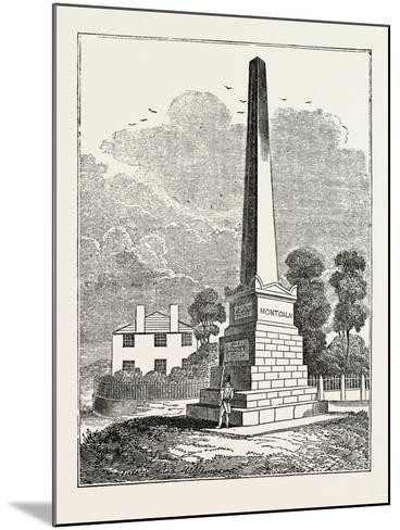 Monument to Wolfe and Montcalm, Quebec, Canada--Mounted Giclee Print