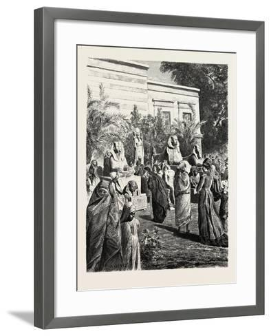 Court of the Museum of Antiquities at Boolak. Egypt, 1879--Framed Art Print