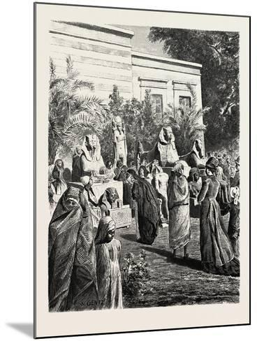 Court of the Museum of Antiquities at Boolak. Egypt, 1879--Mounted Giclee Print