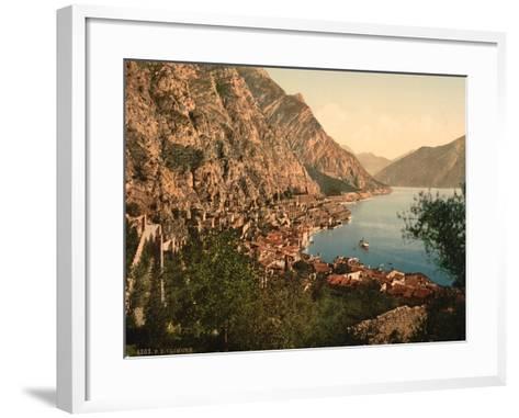 General View, Limone, Lake Garda, Italy, C.1890-C.1900--Framed Art Print