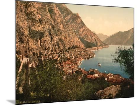 General View, Limone, Lake Garda, Italy, C.1890-C.1900--Mounted Giclee Print