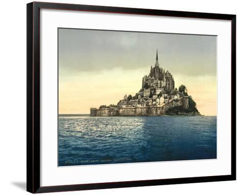 East Coast at High Water, Le Mont St. Michel, France--Framed Art Print