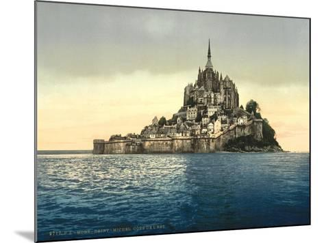 East Coast at High Water, Le Mont St. Michel, France--Mounted Giclee Print