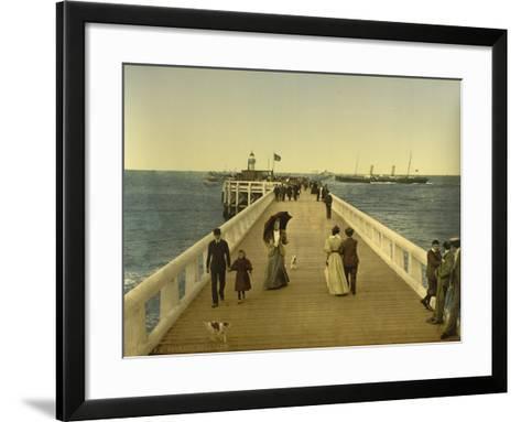 Pier, Ostend, Belgium, C.1890-C.1900--Framed Art Print