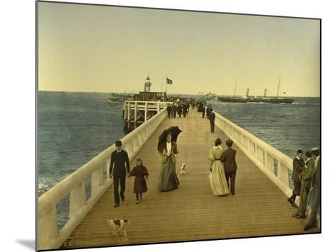 Pier, Ostend, Belgium, C.1890-C.1900--Mounted Giclee Print
