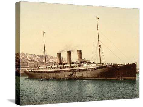 Steamship Normannia, Algeria, C.1899--Stretched Canvas Print
