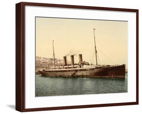 Steamship Normannia, Algeria, C.1899--Framed Art Print