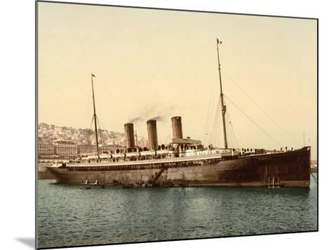 Steamship Normannia, Algeria, C.1899--Mounted Giclee Print