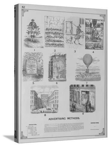 Advertising Methods--Stretched Canvas Print