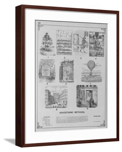 Advertising Methods--Framed Art Print